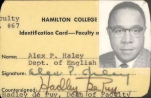 Haley was Writer-in-Residence at Hamilton College around 1968. Courtesy of Studio 360 and Bill Haley. Click the image for a great radio story on Haley, Malcolm and the Autobiography.