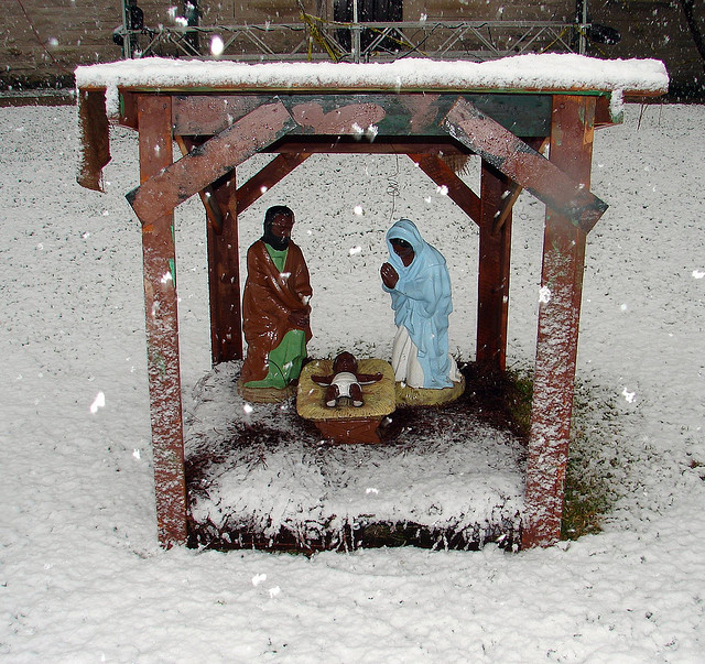 """""""Black Baby Jesus at Xavier,"""" image by Mark Gstohl."""