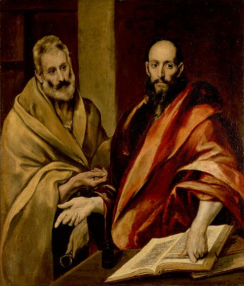 Saint Peter and Saint Paul, by El Greco, c. 16th century. Hermitage Museum (Russia).