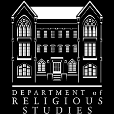 Logo of the University of Alabama Department of Religious Studies. A picture of Manly Hall.