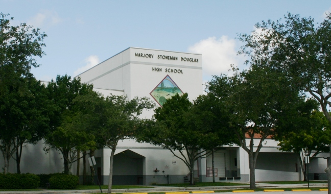 Front of Marjory Stonemason Douglas High School