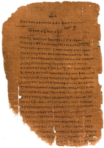An ancient sheet of papyrus