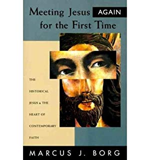 Cover of the book, Jesus's bearded face is oil painted, but the portion of his eyes are magnified.