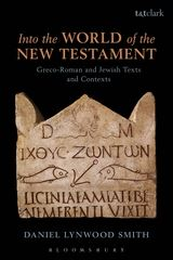 Into the World of the New Testament Book Cover. It has a Greek inscription with iconography of fish and anchors.