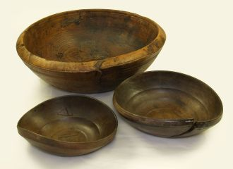 Wooden bowl found on board the 16th century carrack Mary Rose.